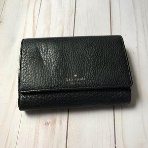 Kate Spade Black Leather Wallet EUC.